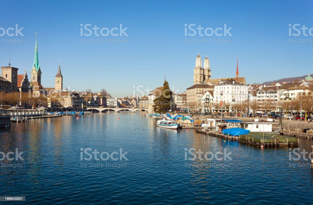 Zurich Cityscape, Switzerland royalty-free stock photo