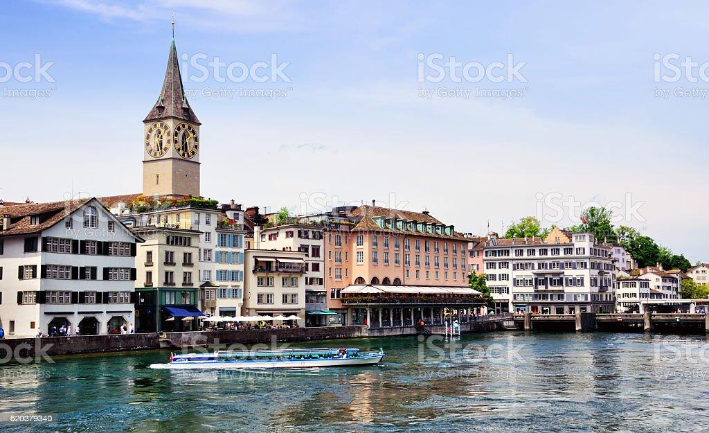 Panorama Zurych, Szwajcaria zbiór zdjęć royalty-free