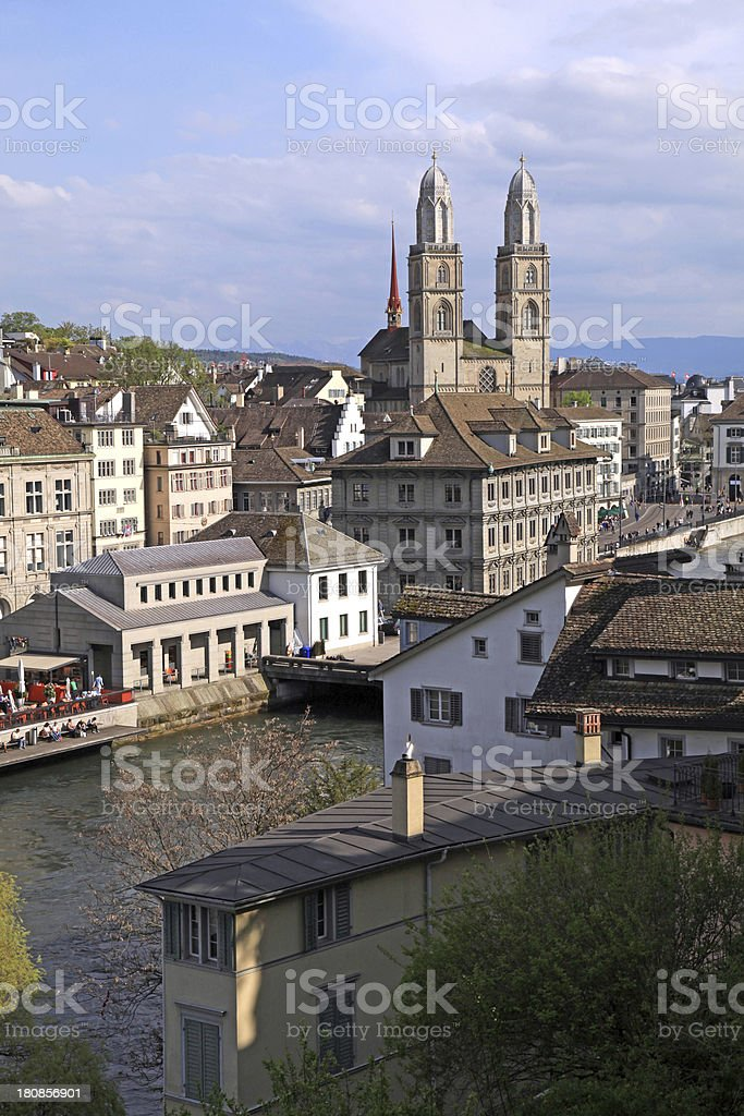 Zurich cityscape, Switzerland. Vertical image royalty-free stock photo