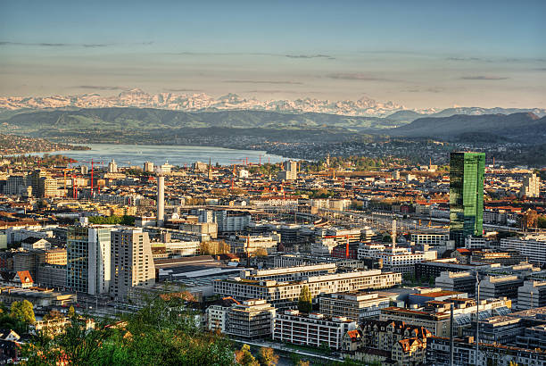 Zurich HDR April 2015, town of Zurich (Switzerland), HDR-technique zurich stock pictures, royalty-free photos & images
