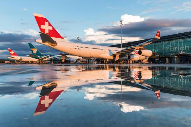 Zurich International Airport stock photo