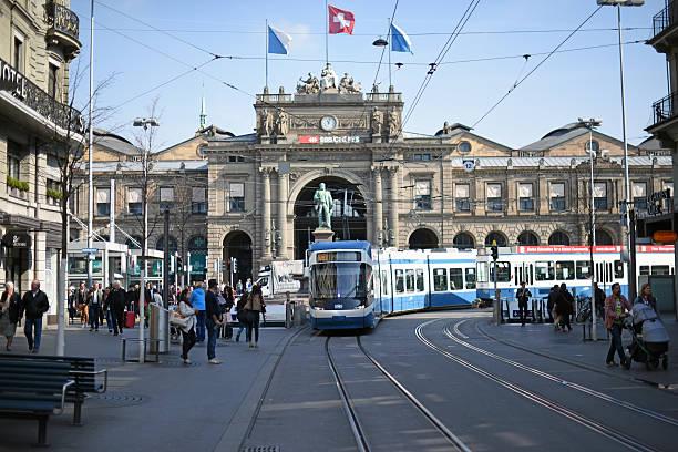 Zurich Main Station stock photo