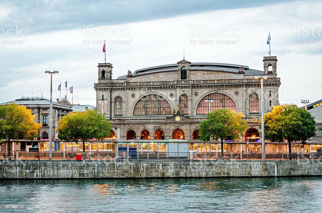 Zurich main train station (Hauptbahnhof), Switzerland Zurich main train station (Hauptbahnhof), Switzerland 2015 Stock Photo