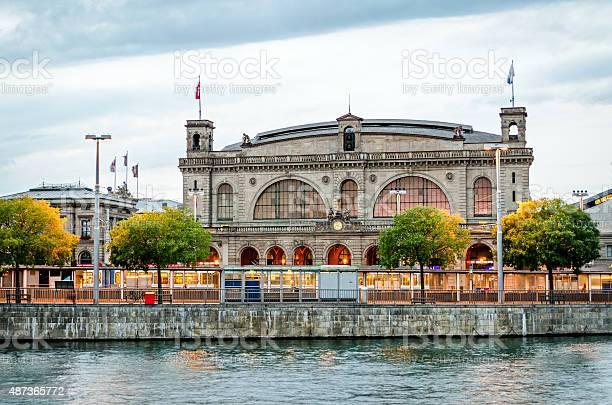 Zurich Main Train Station Switzerland Stock Photo - Download Image Now