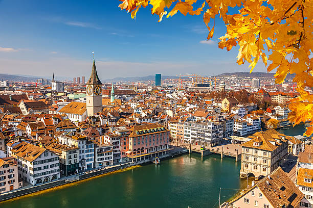 Zurich Downtown of Zurich at sunny day zurich stock pictures, royalty-free photos & images