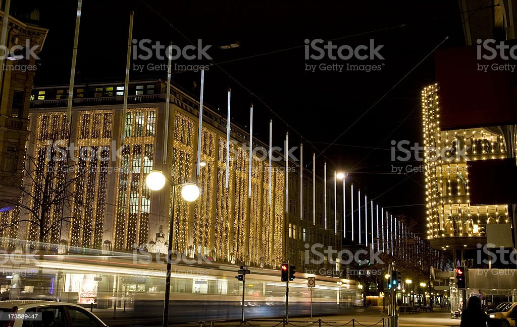 Zurich Streets in Christmas royalty-free stock photo