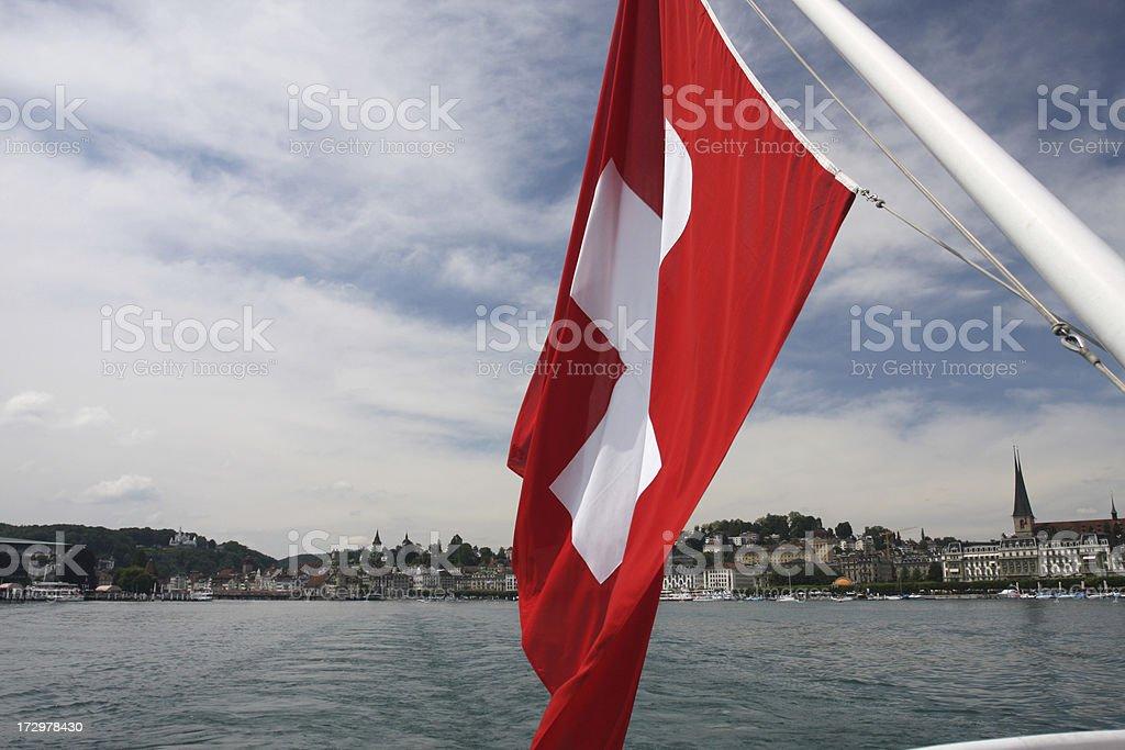 Zurich Switzerland by boat royalty-free stock photo