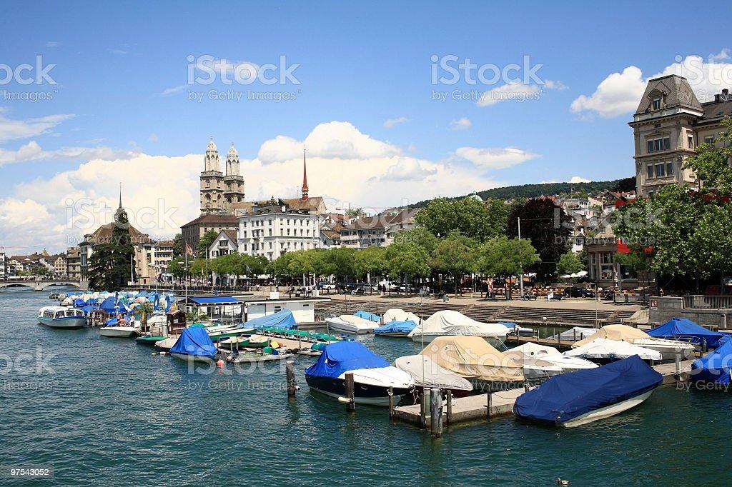Zurich. La Suisse. L'Europe photo libre de droits