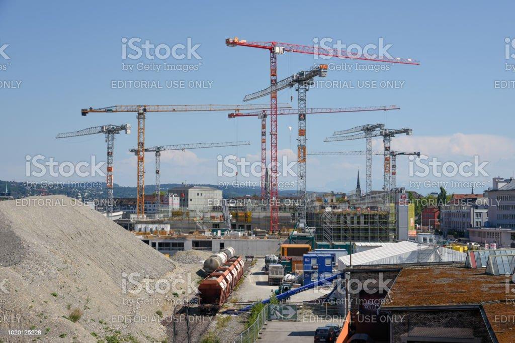 Zurich under construction stock photo