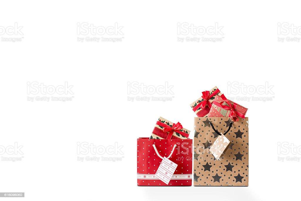 Zwei Einkaufstaschen stock photo