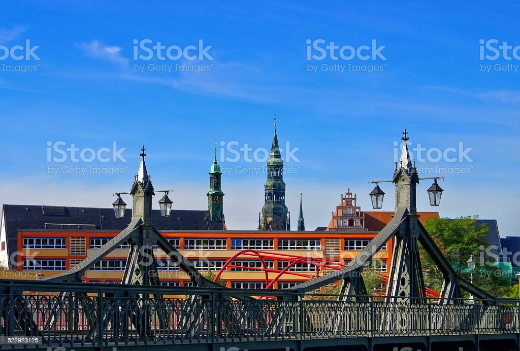 Zwickau bridge of paradise stock photo