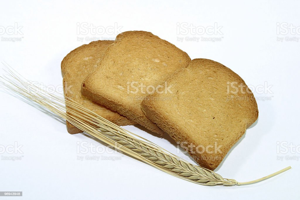 Zwieback with grain royalty-free stock photo