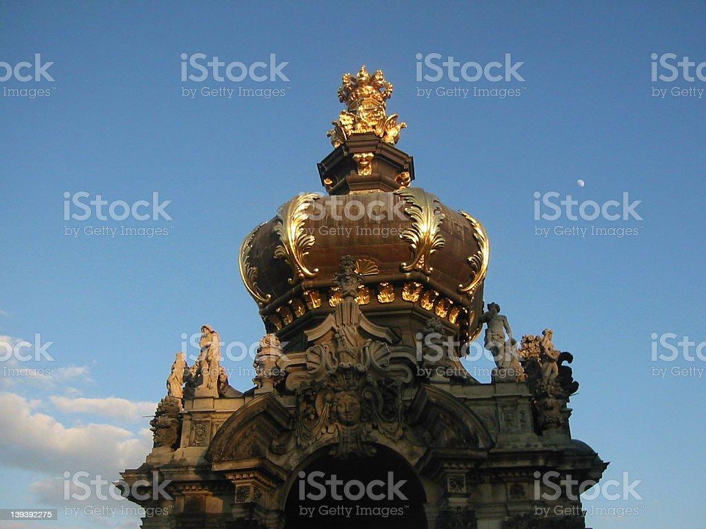 Zwiebelturm Dresden stock photo