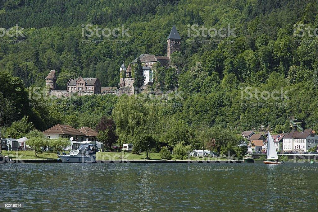 Zwingenberg Castle stock photo