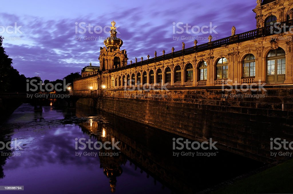 Zwinger ditch in Dresden, Germany stock photo