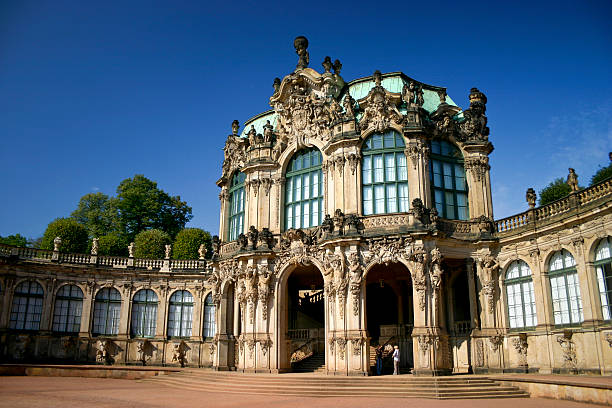 Zwinger Dresden detail The world-famous Zwinger in Dresden at a beautiful day, baroque era zwanger stock pictures, royalty-free photos & images