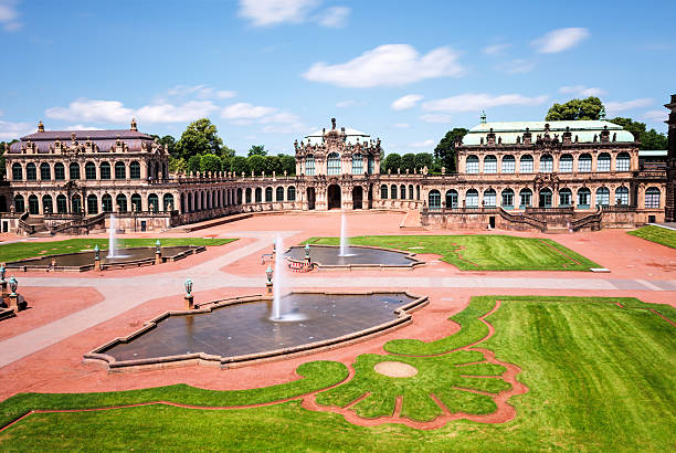 Zwinger,  Dresden Zwinger  Rococo style palace in Dresden zwanger stock pictures, royalty-free photos & images