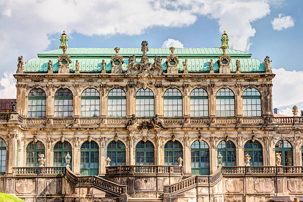 Zwinger in Dresden, Germany The Zwinger in the historic old town of Dresden in Germany zwanger stock pictures, royalty-free photos & images
