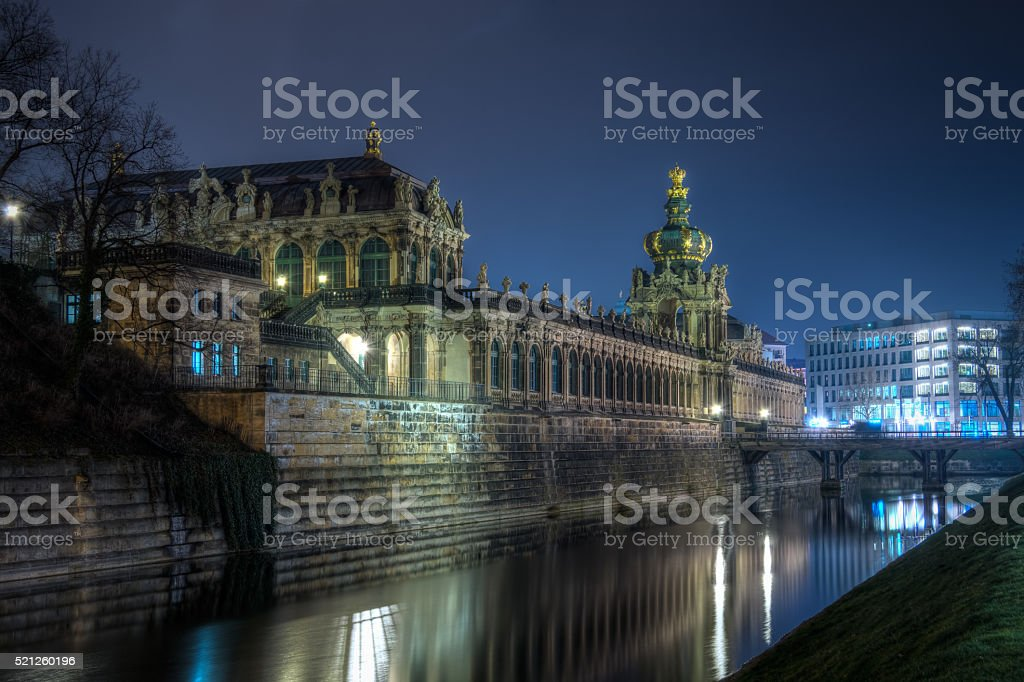 Zwinger Langgalerie stock photo