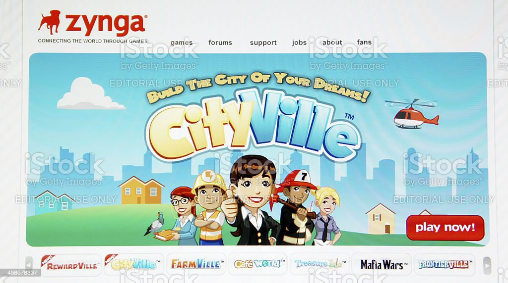 Zynga Homepage in the Internet royalty-free stock photo