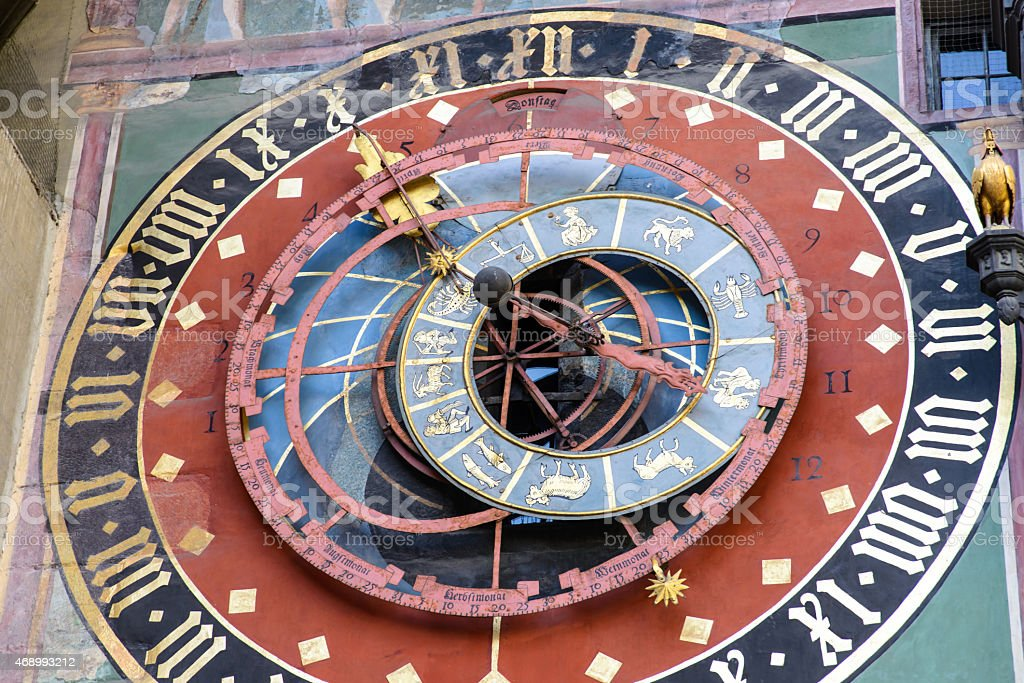 Zytglogge in Bern, landmark medieval clock tower, Switzerland stock photo