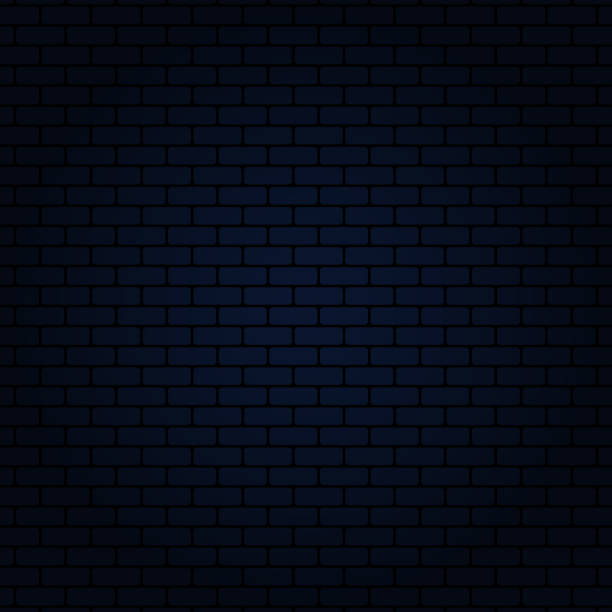 illustrazioni stock, clip art, cartoni animati e icone di tendenza di blue brick wall - blu scuro