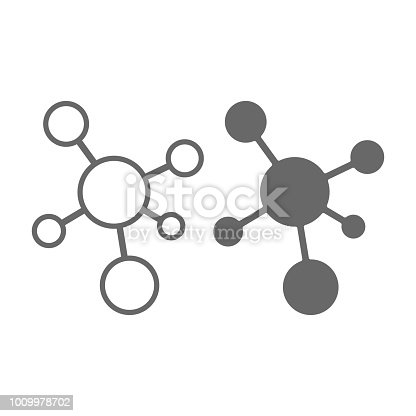 Molecule icon sign isolated on white background