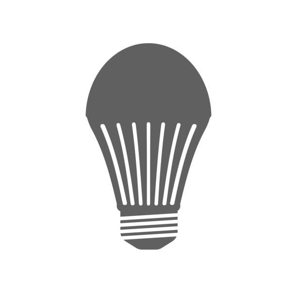 Печать Led lamp icon. Flat style. Vector illustration canadian football league stock illustrations