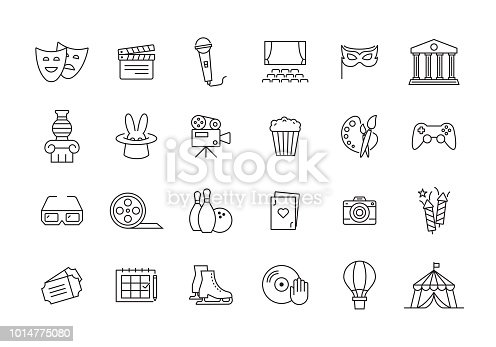 ENTERTAINMENT LINE ICON SET