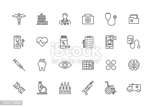 HEALTHCARE AND MEDICAL LINE ICON SET
