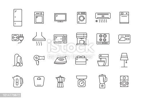 HOUSEHOLD LINE ICON SET