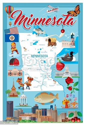 VECTOR MINNESOTA  I have used  http://legacy.lib.utexas.edu/maps/united_states/fed_lands_2003/minnesota_2003.pdf address as the reference to draw the basic map outlines with Illustrator CS5 software, other themes were created by  myself.