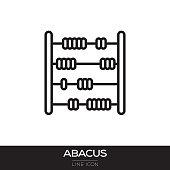 istock ABACUS LINE ICON 1018115244
