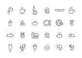 FOOD AND DRINK LINE ICON SET