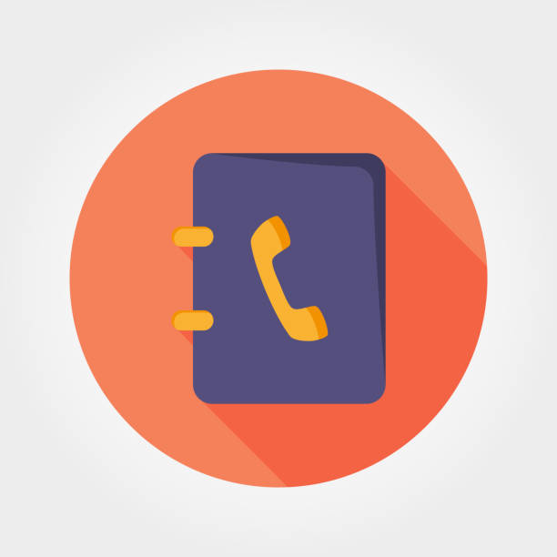 Основные RGB Contacts book. Icon for web and mobile application. Vector illustration on a white background. Flat design style. telephone directory stock illustrations
