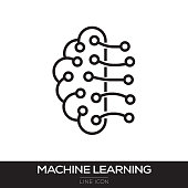 MACHINE LEARNING LINE ICON
