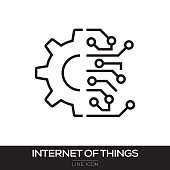 INTERNET OF THINGS LINE ICON