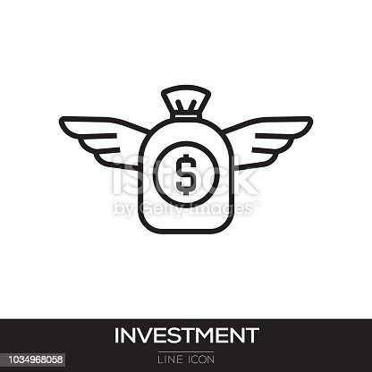 INVESTMENT CONCEPT-MONEY WITH WINGS