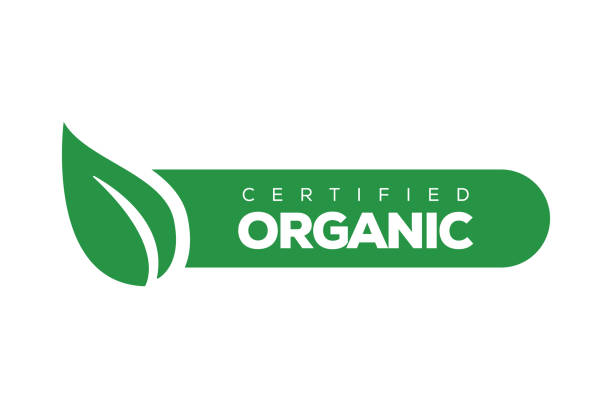 organic products banner - organic stock illustrations, clip art, cartoons, & icons