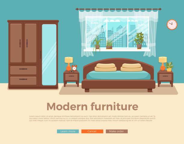 illustrazioni stock, clip art, cartoni animati e icone di tendenza di ðŸðµñ‡ð°ñ'ñŒ - bedroom