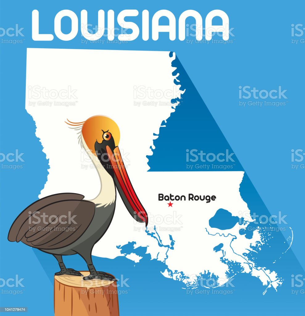 LOUISIANA vector art illustration