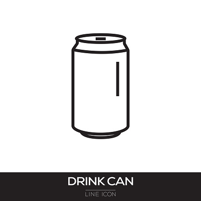 DRINK CAN LINE ICON