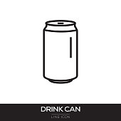 istock DRINK CAN LINE ICON 1051124204