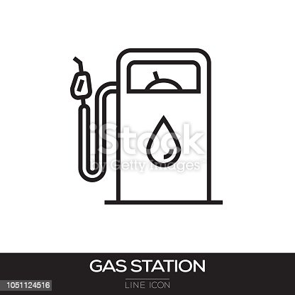 GAS STATION LINE ICON