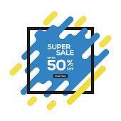 SUPER SALE CONCEPT BANNER DESIGN