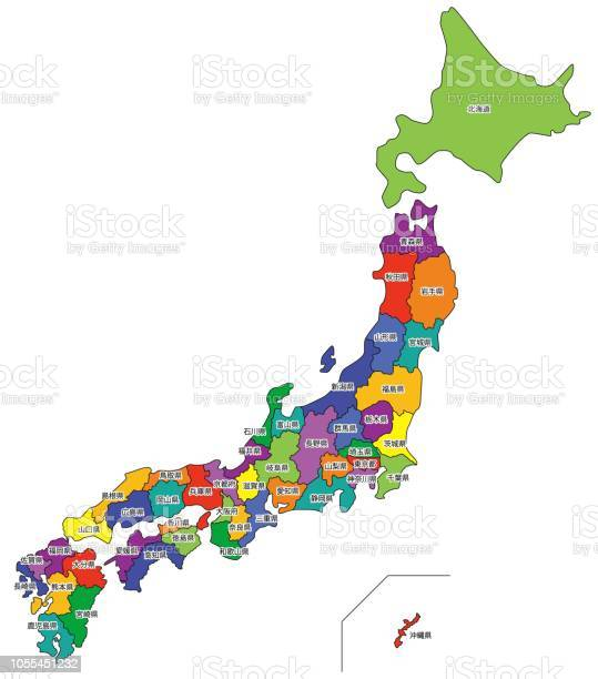 日本地図 - イラストレーションのベクターアート素材や画像を多数ご ...