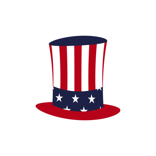 Печать American hat icon. President day illustration. Vector surface to air missile stock illustrations