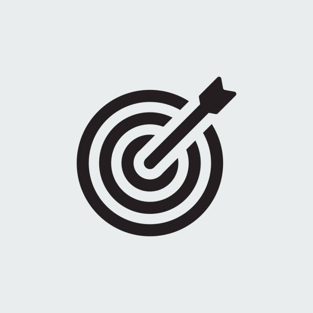 TARGET ICON TARGET ICON accuracy stock illustrations
