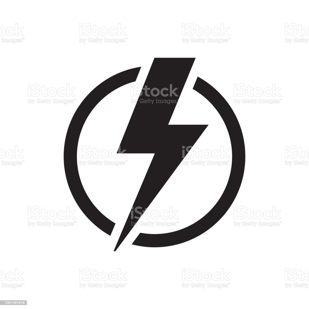 STROM-SYMBOL - Lizenzfrei Achtung Hochspannung Vektorgrafik