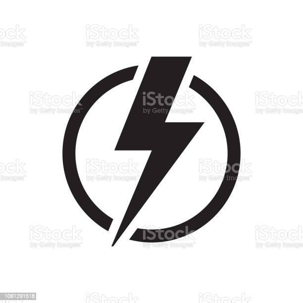 Stromsymbol Stock Vektor Art und mehr Bilder von Achtung Hochspannung